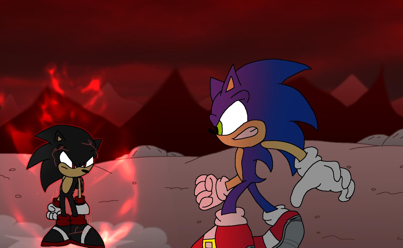 Sonic Vs Evil Sonic By Jack Hedgehog On Deviantart
