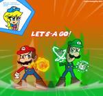 Fire Mario and Thunder Luigi (Re-Make)
