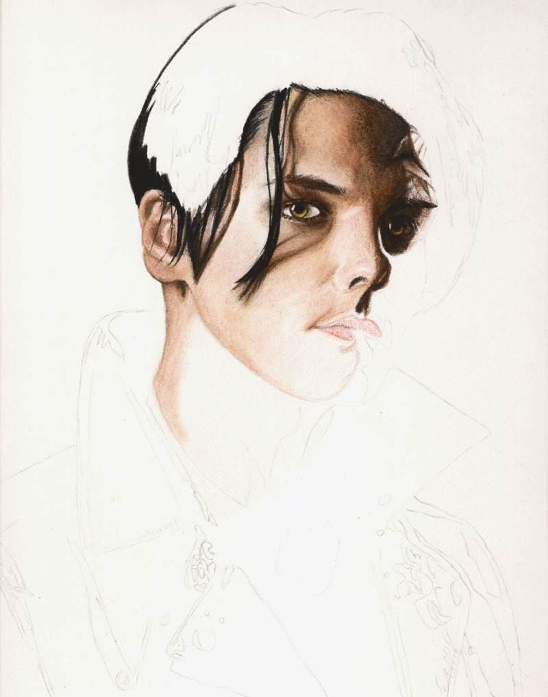 gerard way IIII wip 3 by disdaindespair
