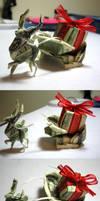 xmas reindeer sleigh $ origami