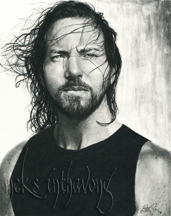 Eddie Vedder by disdaindespair