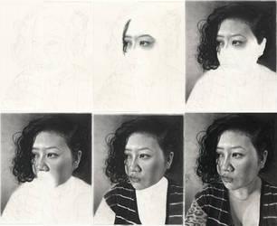 Self Portrait V WIPs by desdainart