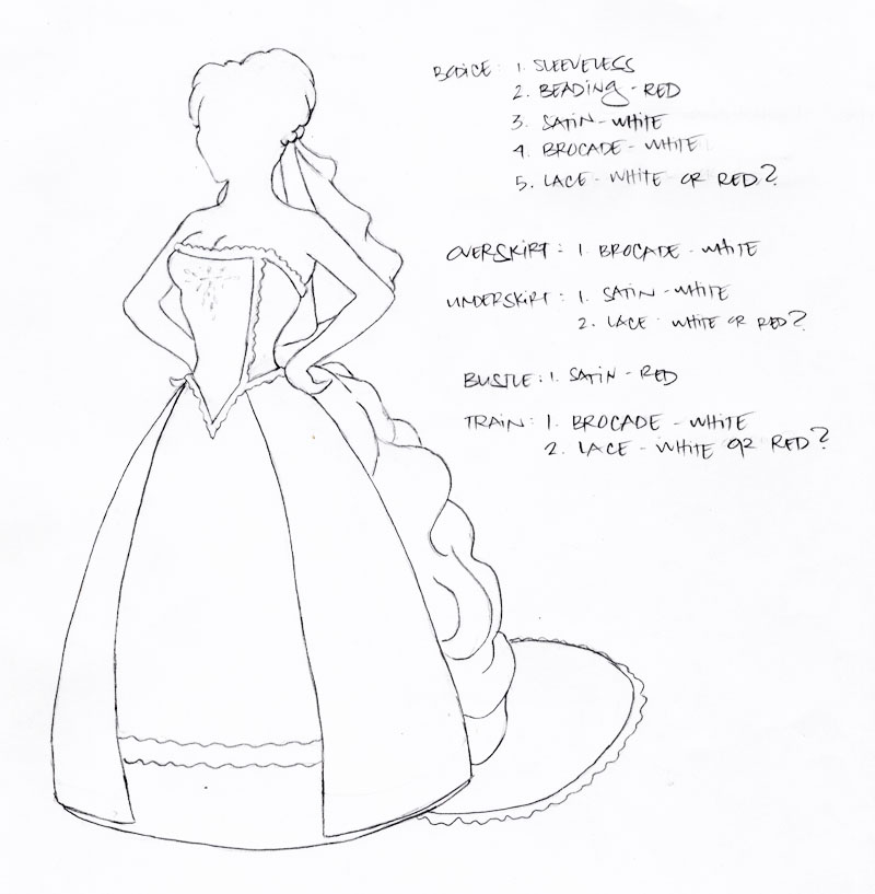 wedding gown outline by disdaindespair on DeviantArt