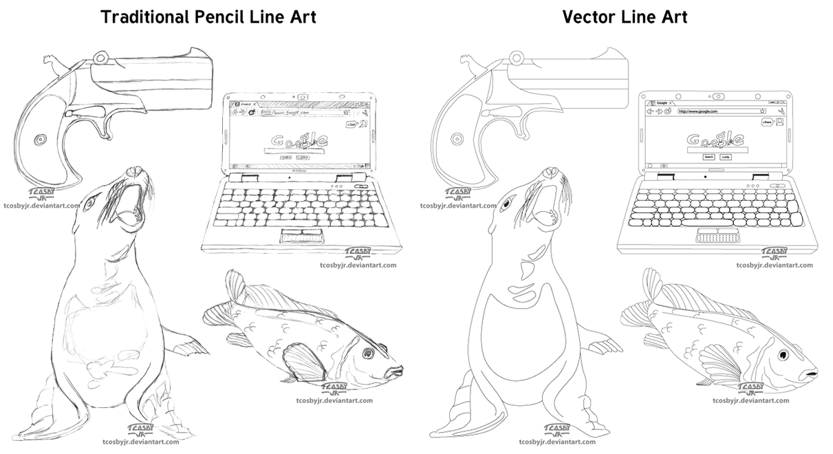 Simple Line Art Example : Simple line art examples by tcosbyjr on deviantart
