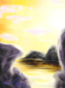 Cliff Sunset