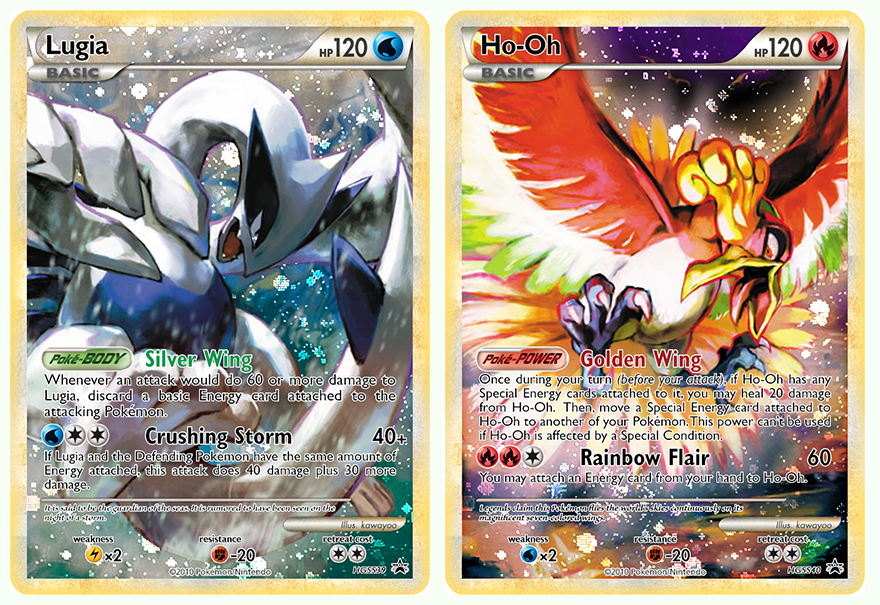 Ho Oh And Lugia Card