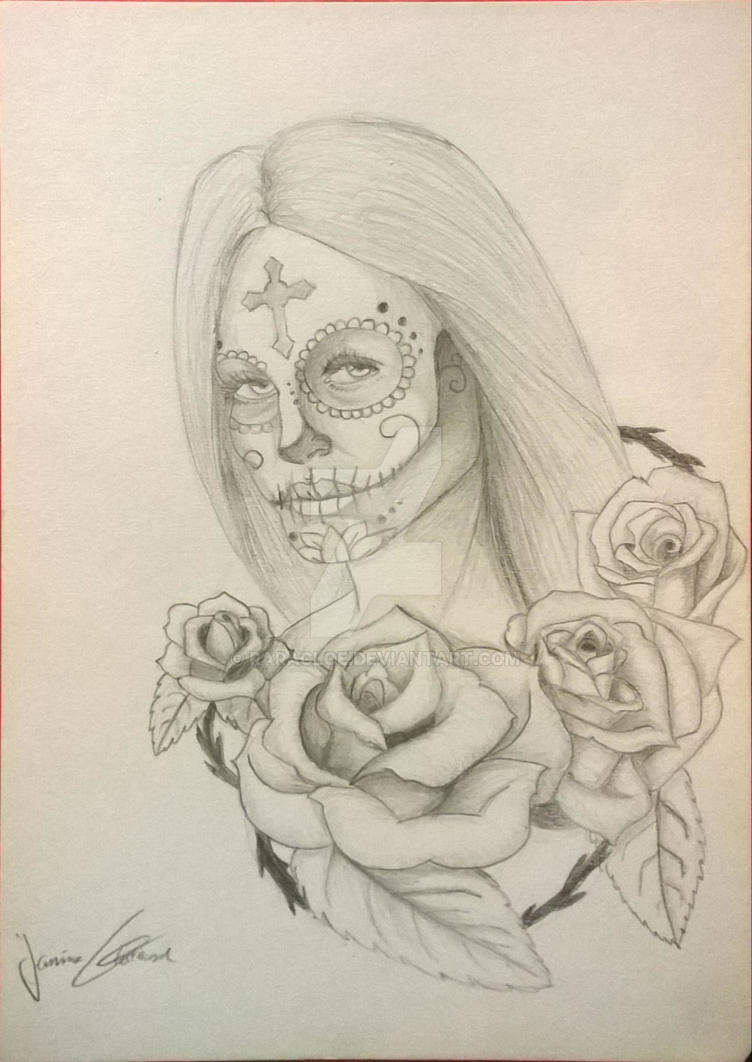 Tattoo desing (the day of the dead) by RaraCloe