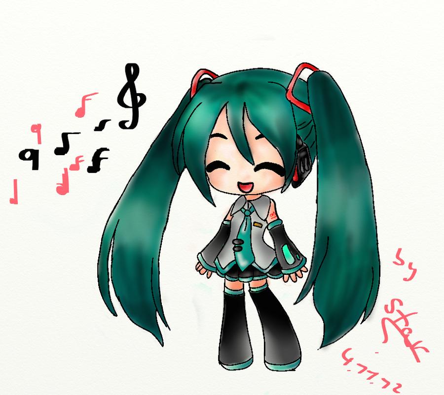 Vocaloid Chibi Miku Chibi Miku Hatsune by ...