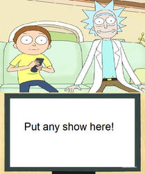 Rick and Morty watch a blank meme by Mroyer782