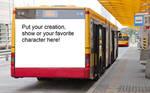 A blank meme on the bus