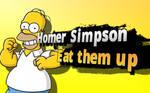 Homer Simpson eat them up