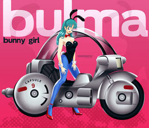Bulma motorcyclist_dragonball