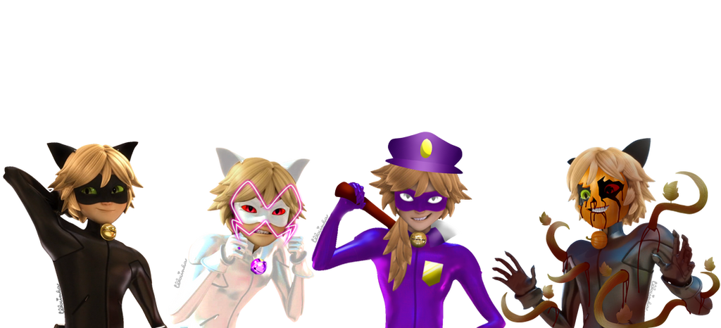 Miraculous Ladybug - Chat Noir's sides [PNG] by Chloeinka