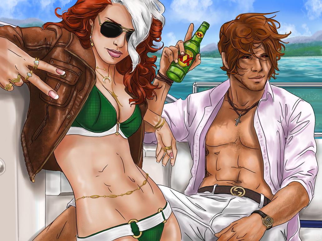 Beach babes by Spasticat