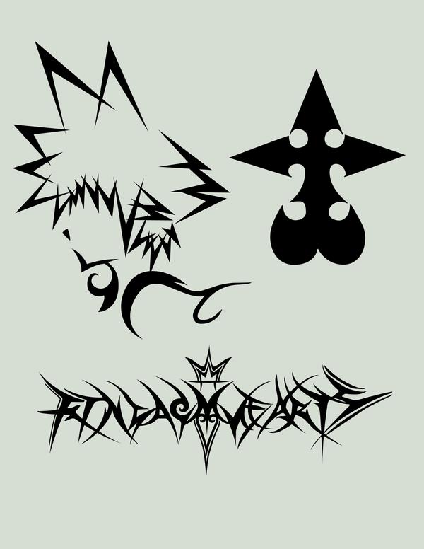 Kingdom hearts stuff by dannyman on deviantart for Stencil stuff tattoo