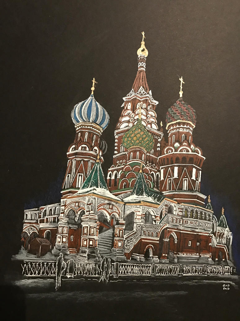 St Basil's Cathedral Moscow by sermonsays