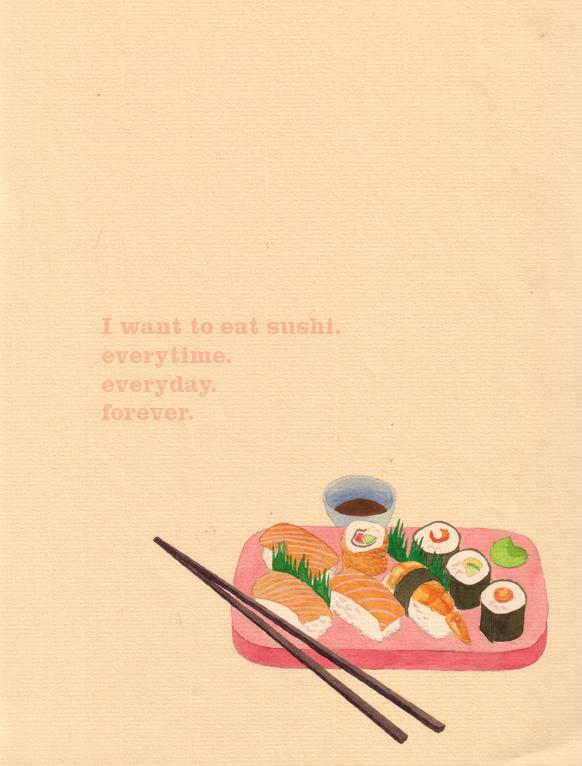 i want sushi by crayolalala