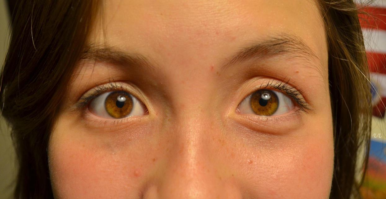 Amber Eye Color | Dark Brown Hairs