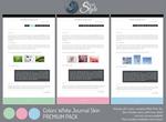 Colors White Journal Skin ~ Premium