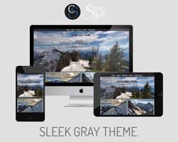 Sleek Gray ~ Premium Tumblr Theme