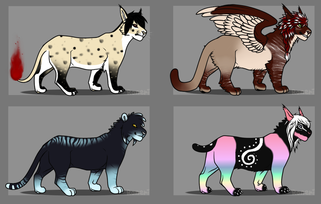Wild Cat Point Adoptables by KamiraWolfDemon