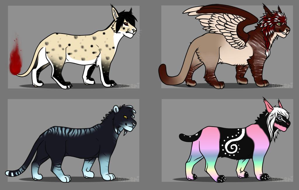 Wild Cat Point Adoptables by KamiraWolfDemon