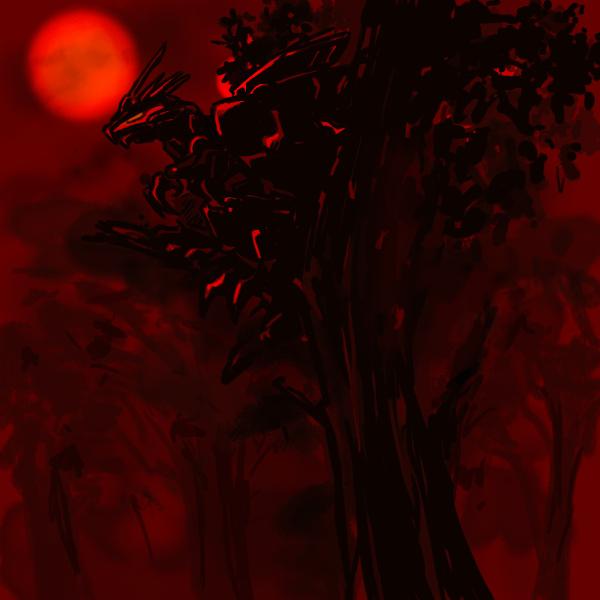 Geno Breaker in tree by pointytilly