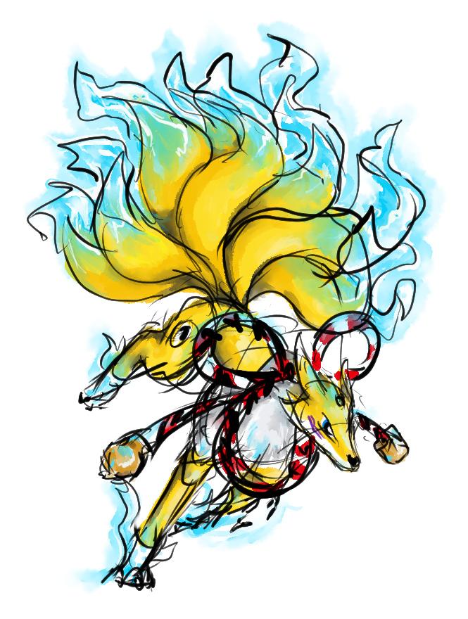Digimon sketch 3 (Kyuubimon)