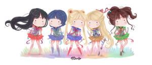 Chibi Inner Senshi Doodle