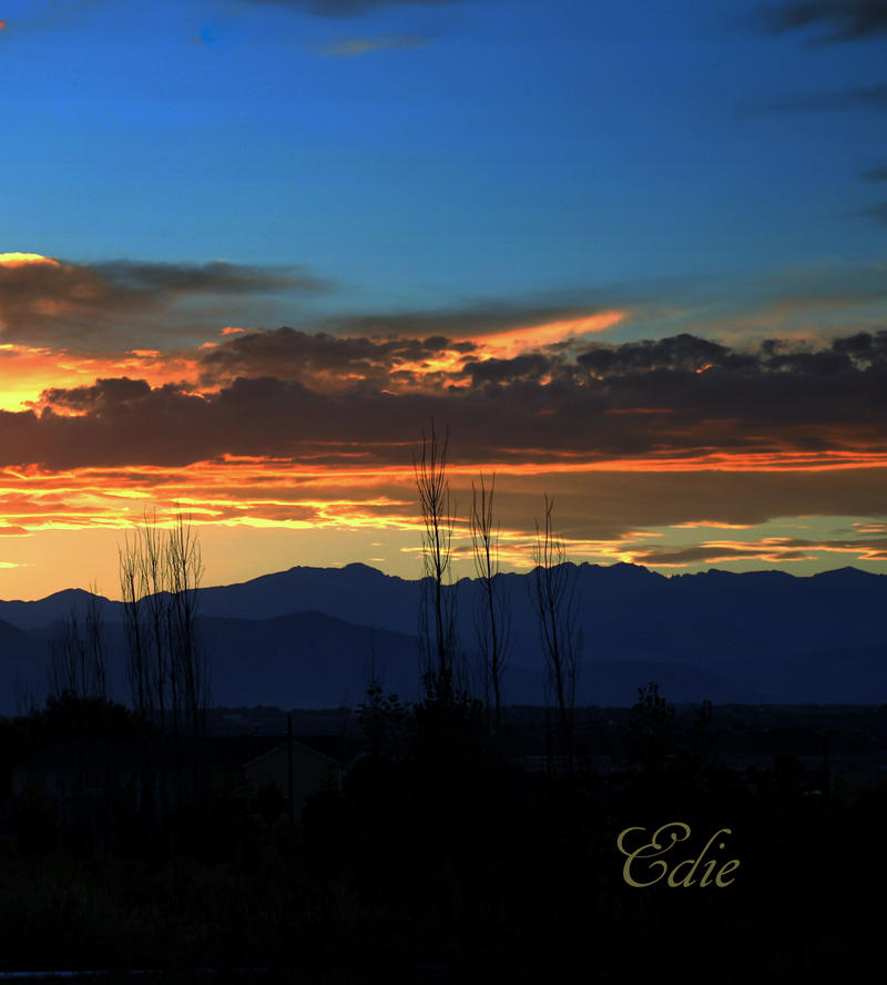 Rocky Mountain Sunset by 1001G