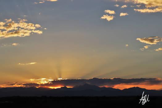 The setting sun tonight