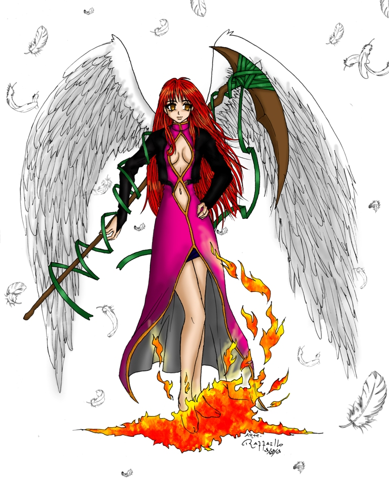 Red Angel By Luizraffaello On Deviantart