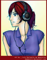 Phone - girl by LuizRaffaello