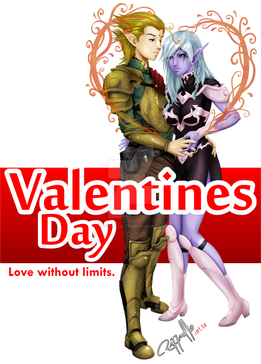 Valentine's Day - Elfs Couple by LuizRaffaello
