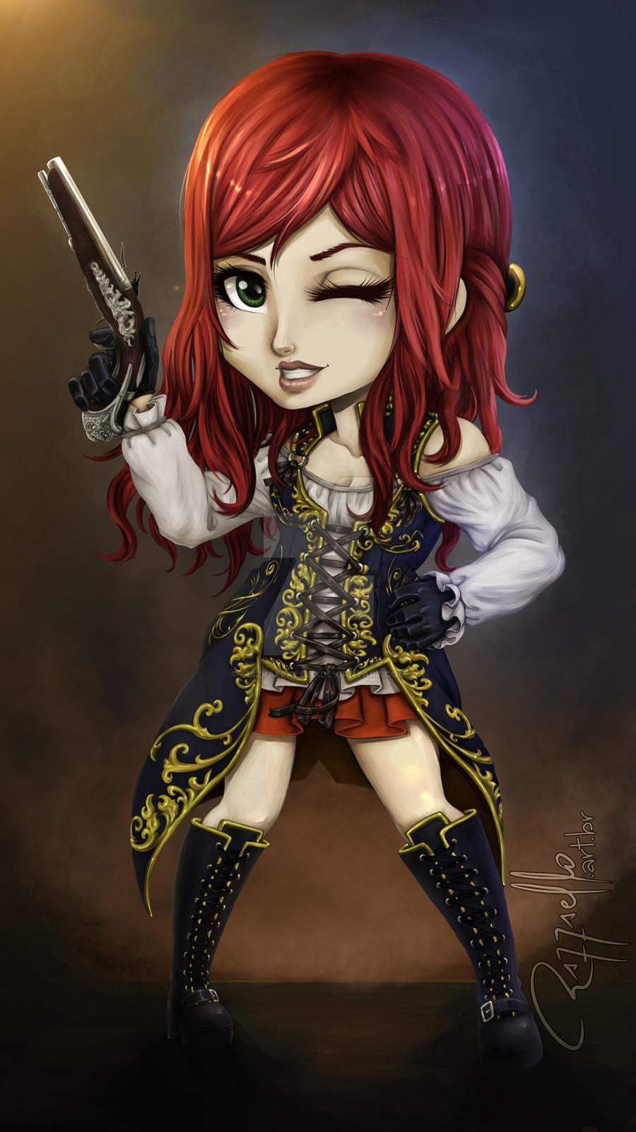 Chibi - Natasha Scarlet by LuizRaffaello