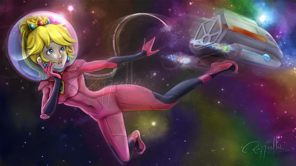 Princess Peach - Commission by LuizRaffaello