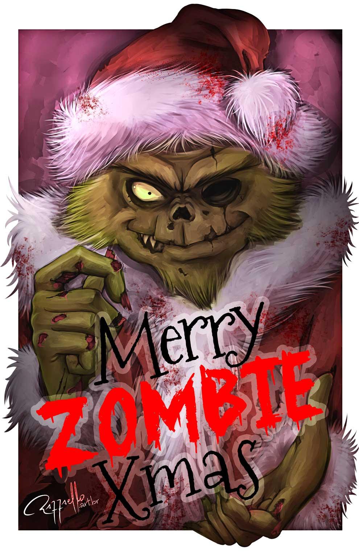 Christmas Zombie Wallpaper.Merry Zombie Christmas By Luizraffaello On Deviantart