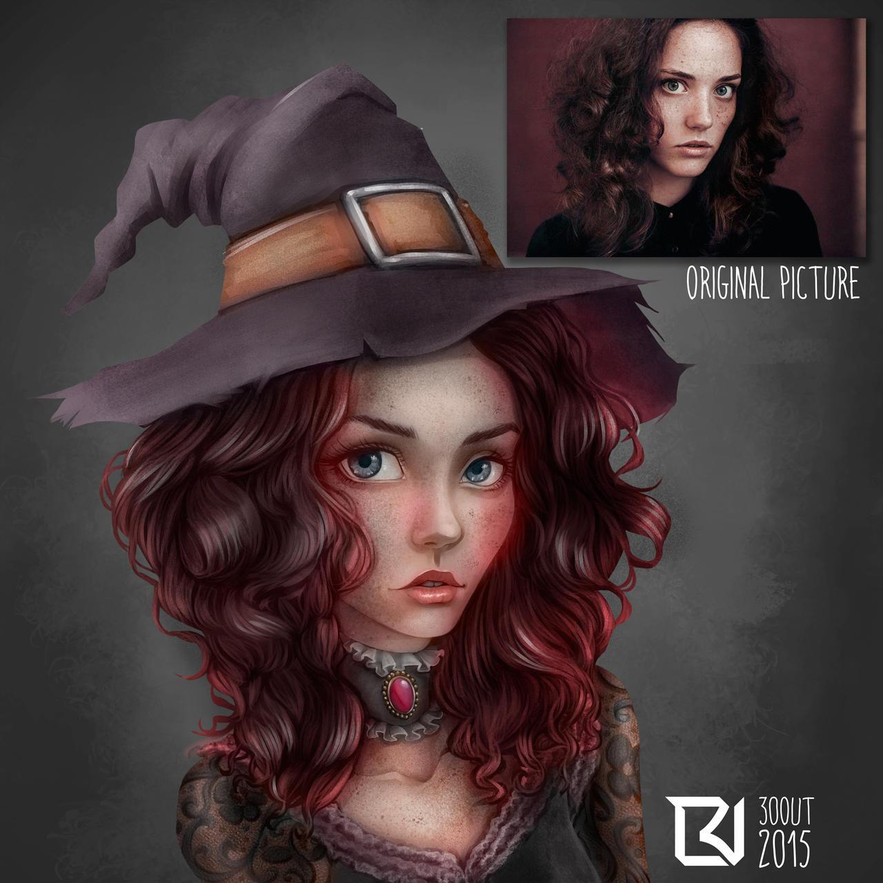 Witch - Picture Study #2 by LuizRaffaello