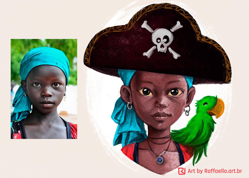 Pirate Girl - Study by LuizRaffaello