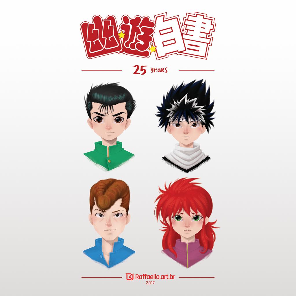 Yu Yu Hakusho - 25 years by LuizRaffaello