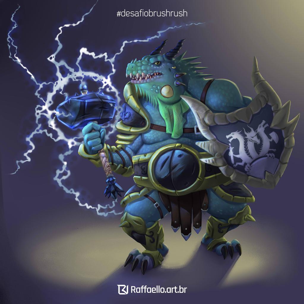 Blue Dragonborn - Desafio Brush Rush by LuizRaffaello