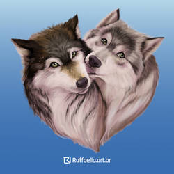 Wolves couple by LuizRaffaello