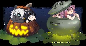 Halloween YCHs by HoshiAdopts