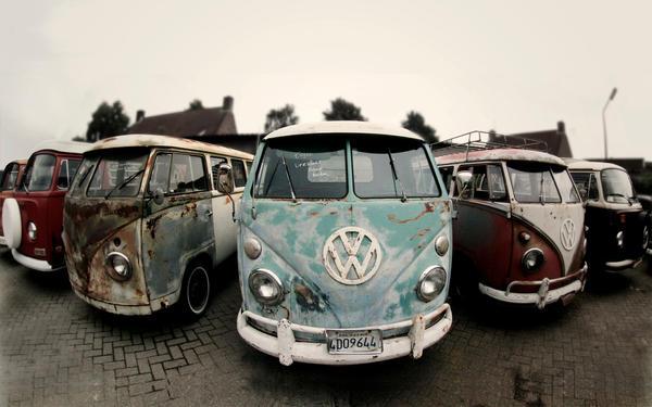 Old VW Transporter vans 2