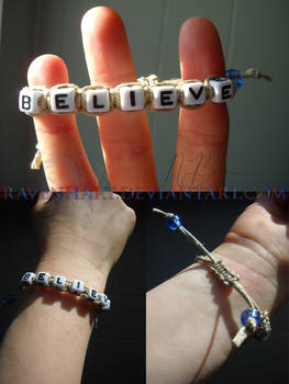 Commission: Believe Adjustable Bracelet