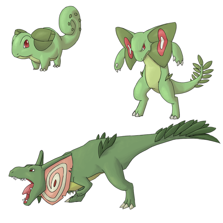 Fakemon - Grass Starters by Laura-E on DeviantArt