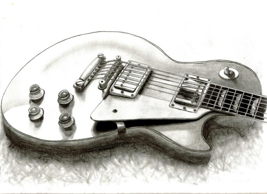 Les Paul Pencil Drawing