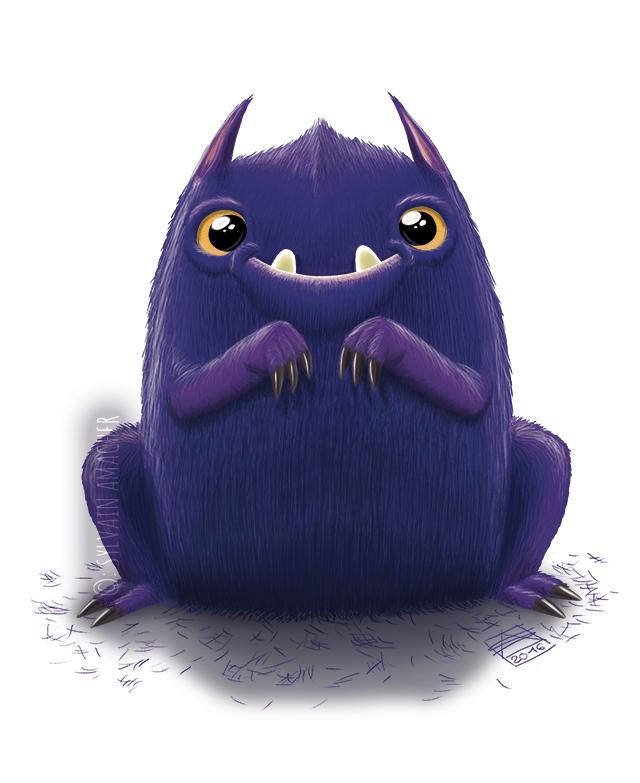 Cute Purple Monster by CaptainSmog