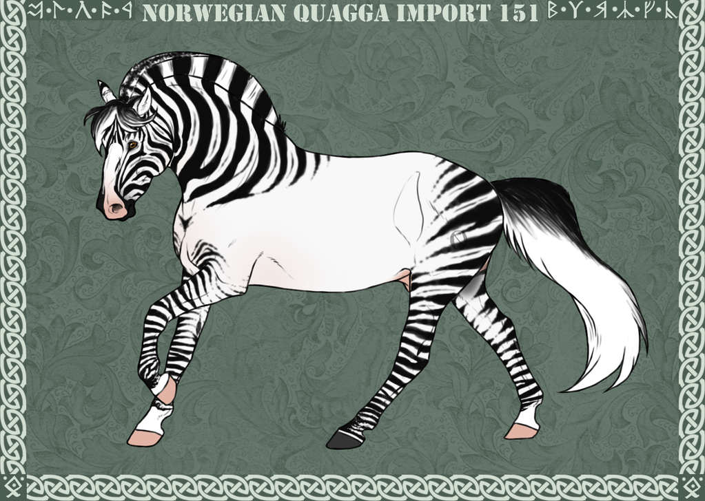Norwegian Quagga | Import | #151 by Feya-san