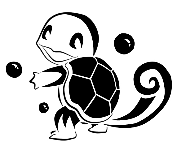 Squirtle Tribal Tattoo by NillySue on DeviantArt
